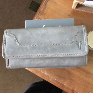 "Frye Melissa Continental wallet ""ice"""